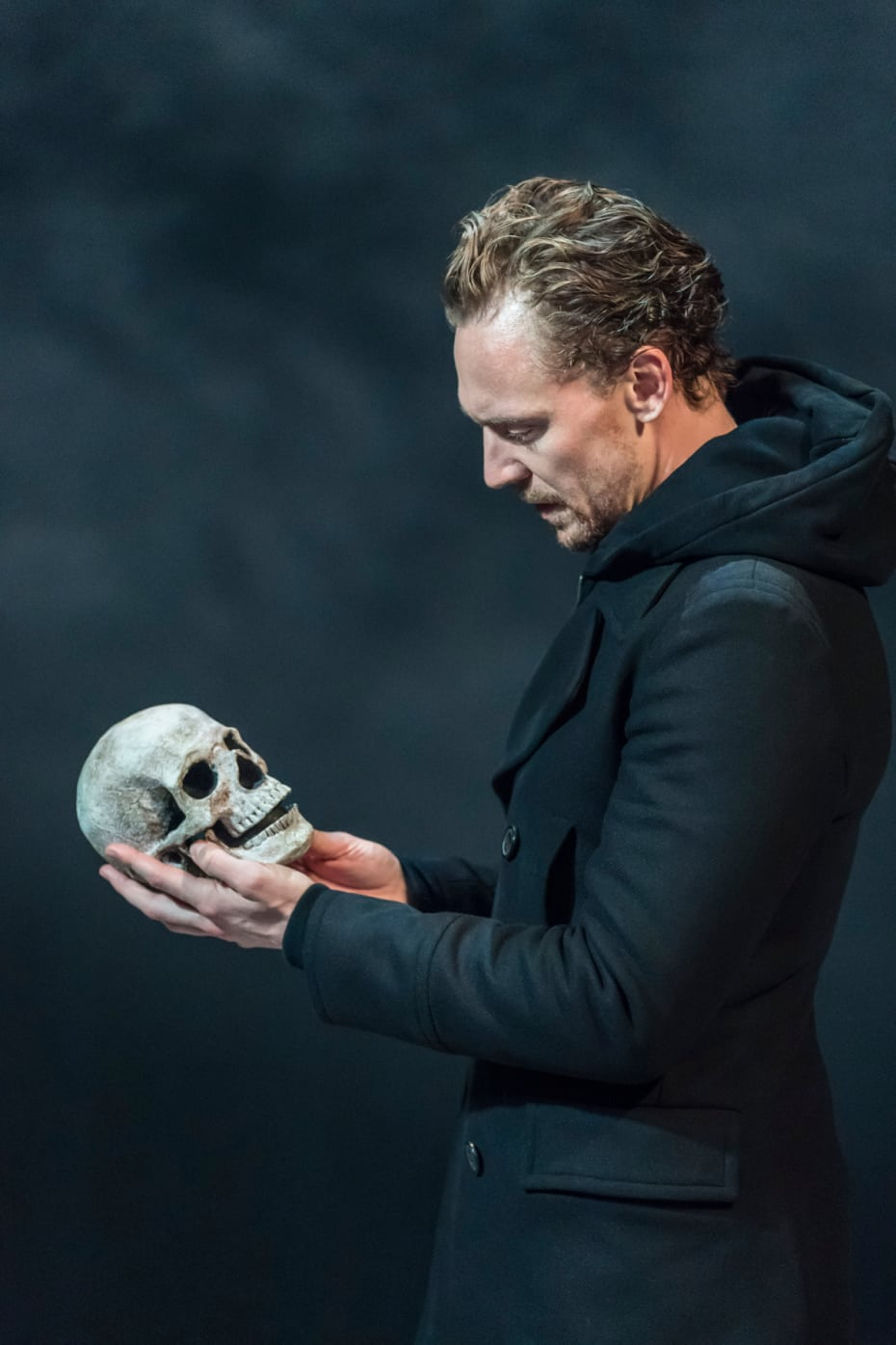 Tom Hiddleston (Hamlet) in RADA and Kenneth Branagh Theatre Company's Hamlet (Photo: Johan Persson)