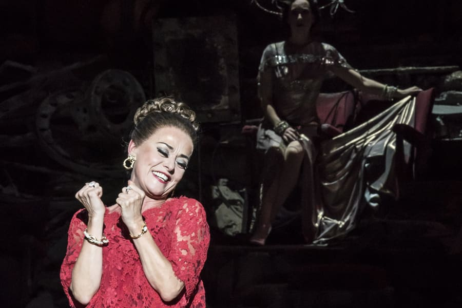 Tracie Bennett as Carlotta Campion in Follies at the National Theatre (Photo: Johan Persson)