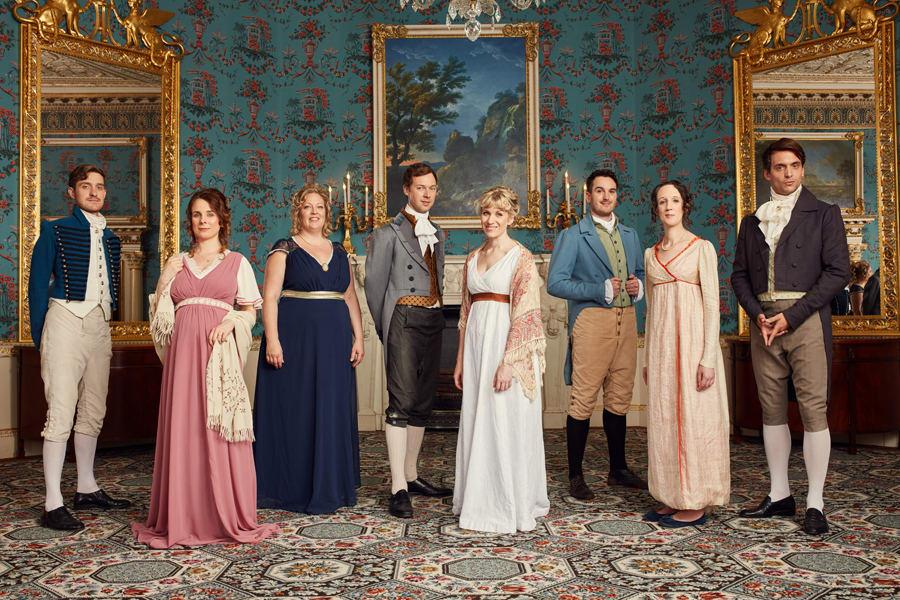 The cast of Austentatious (Photo: Robert Viglasky)