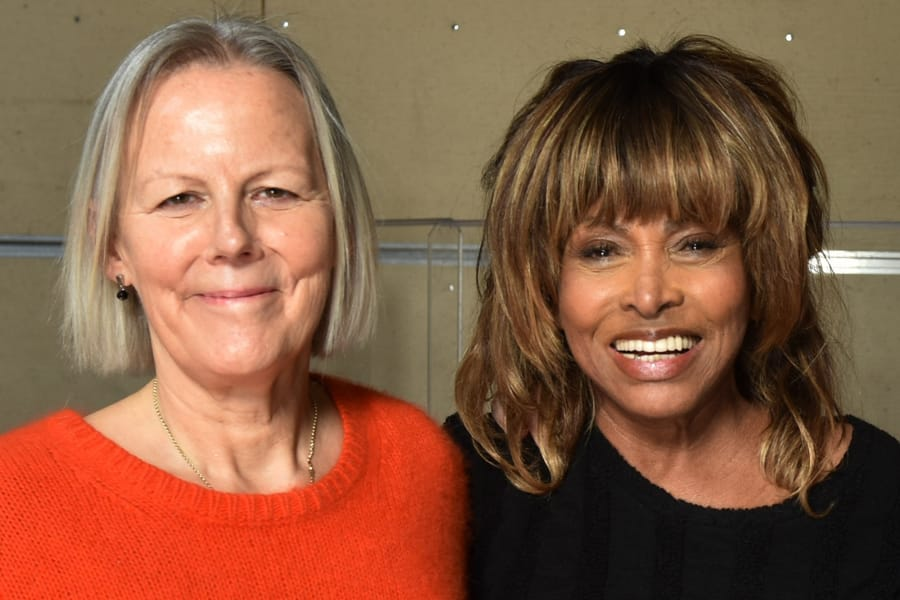 Phyllida Lloyd and Tina Turner at the Tina workshop in December 2016 (Photo: Hugo Glendinning)