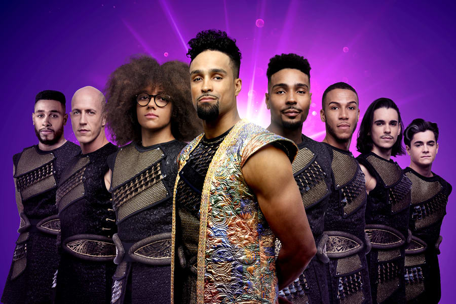 Ashley Banjo and Diversity (The Sultan and The Sultan's Special Advisors) in Dick Whittington