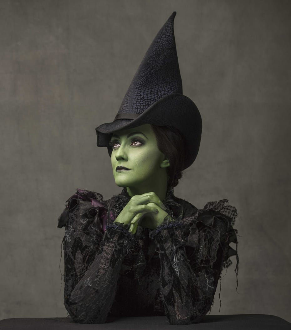 Alice Fearn (Elphaba) in Wicked (Photo: Darren Bell)