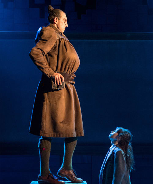 David Shannon plays Miss Trunchbull in the Matilda The Musical cast