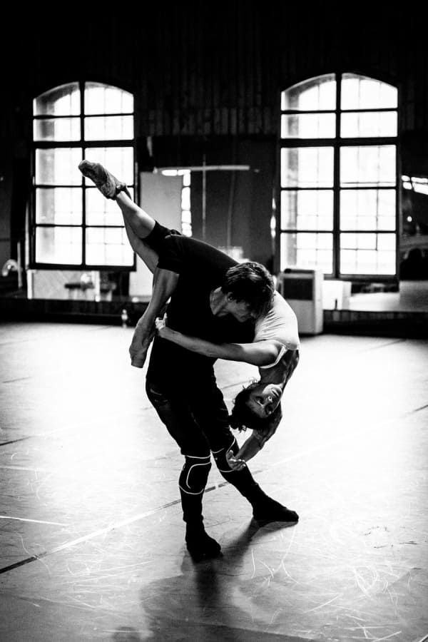 Sergei Polunin and Natalia Osipova in rehearsals for Satori (Photo: Srđan Srđenović)