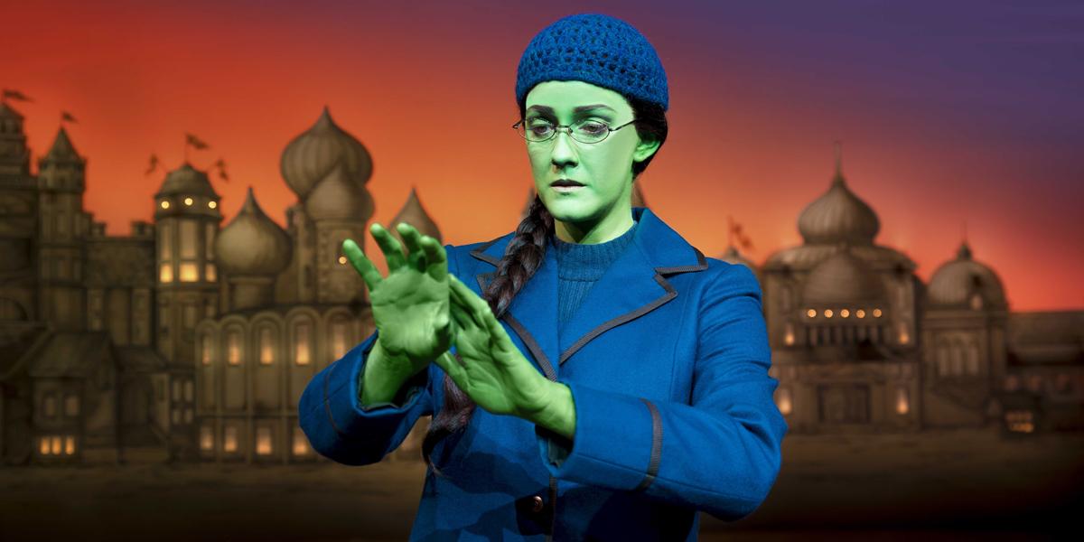Alice Fearn as Elphaba in Wicked London at the Apollo Victoria Theatre (Photo: Matt Crockett)