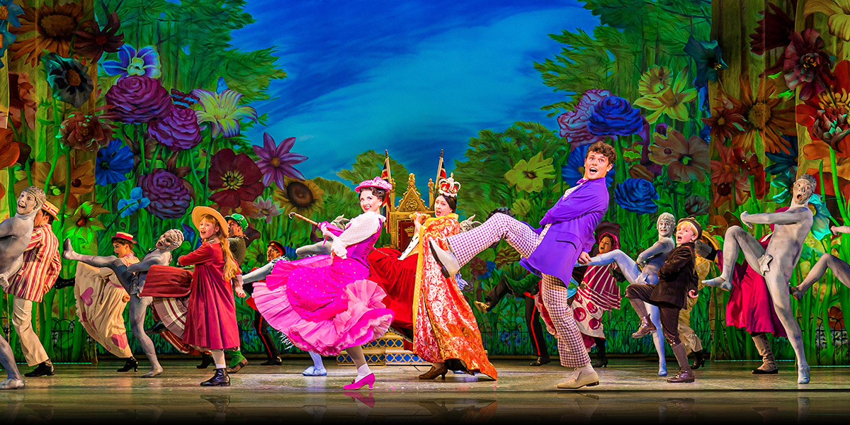 Zizzi Strallen, Charlie Stemp and Company in Mary Poppins. Photo by Johan Persson.