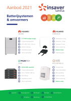 Aanbod thuisbatterijen 2021