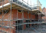 Nieuw huis wordt gebouwd