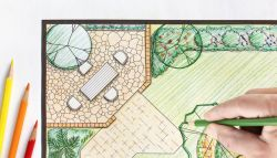 Tuin ontwerp tekening