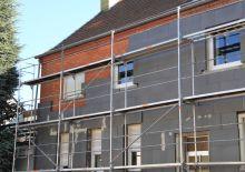 plaques d'isolation extérieure sur habitation