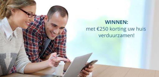 Uw huis verduurzamen met 250€ korting?