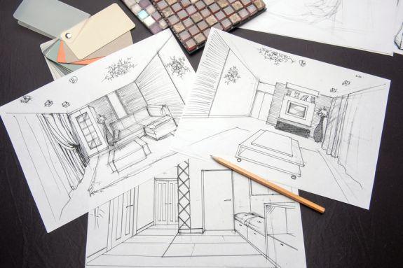 Interieurontwerp tekeningen