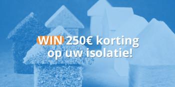Isoleer uw woning met 250€ korting!