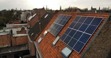 Canadian Solar zonnepanelen in Sint-Amandsberg