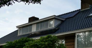 Ook op een blauw dak!