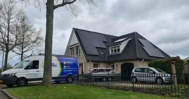 Zonnepanelen op woning in Veendam