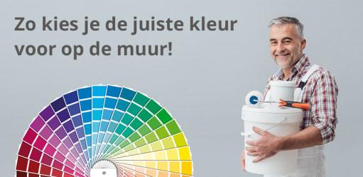 Zo kies je de juiste kleur voor op de muur!