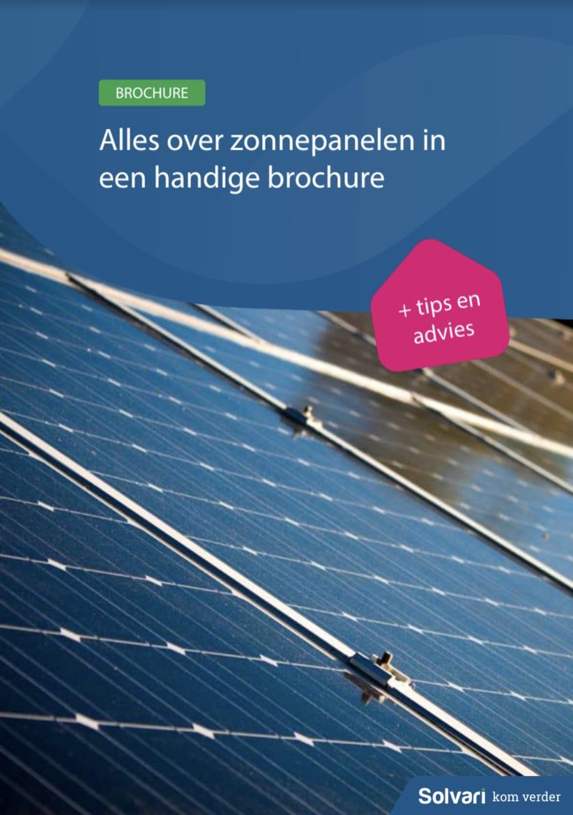 Alles over zonnepanelen in een handige brochure!