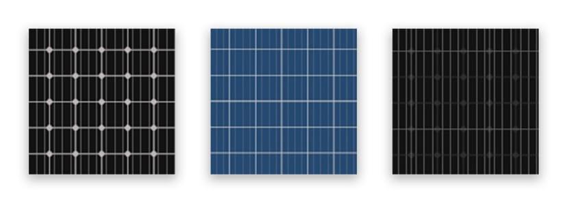 Verschillende soorten zonnepanelen
