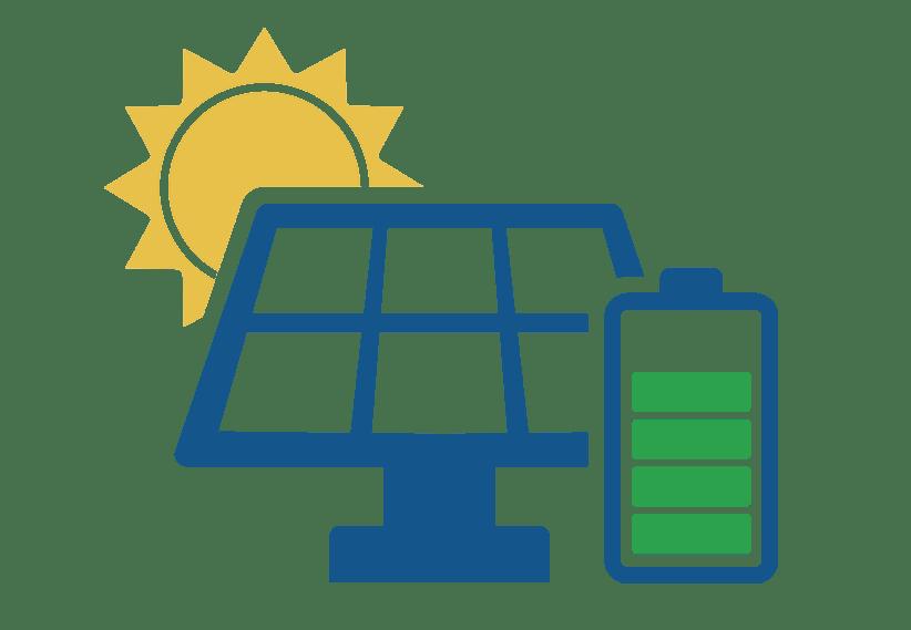 Batterie domestique & panneaux solaires