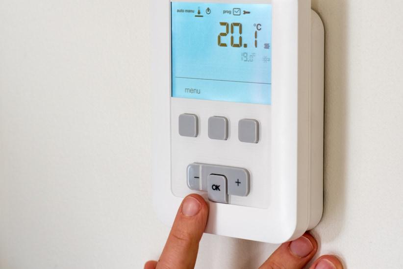 thermostaat temperatuur verlagen