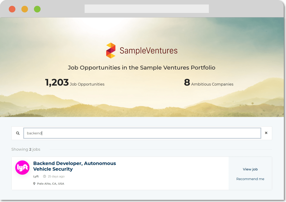 Your portfolio companies share candidates and reduce Time To Hire