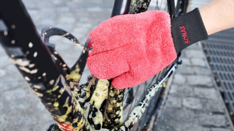 Bike Reiniger einwirken lassen