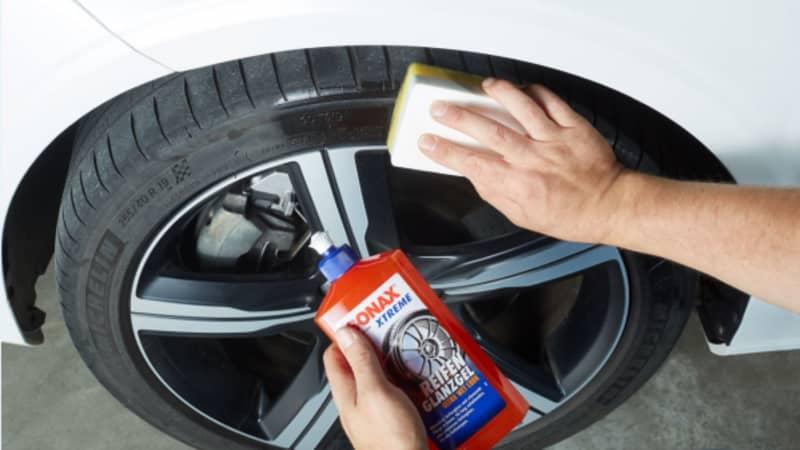 Anwendung Reifenglanzspray
