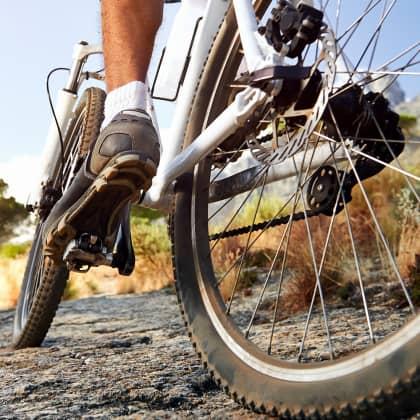 Fahrrad in einer Landschaft