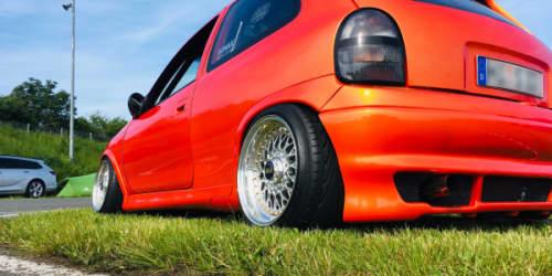 3/4-Heckansicht Opel Corsa