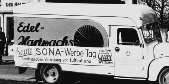 SONAX Verkaufswagen aus den 1950er Jahren