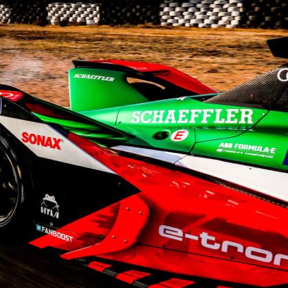 Formel E Daniel Abt Burnout