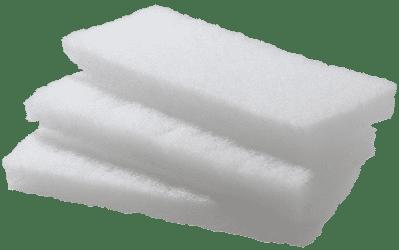 Reinigungspads weich 5er Pack (weiß)