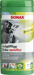 CockpitPflegeTücher Matteffect Green Lemon Box
