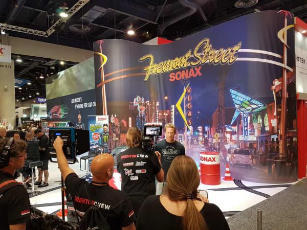 SEMA Interview am SONAX Messestand