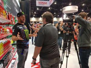 Interview Ken Block SONAX Stand