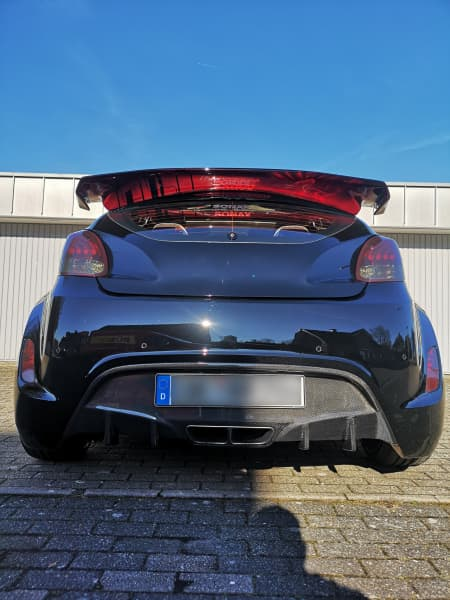 Heckansicht des Hyundai Veloster
