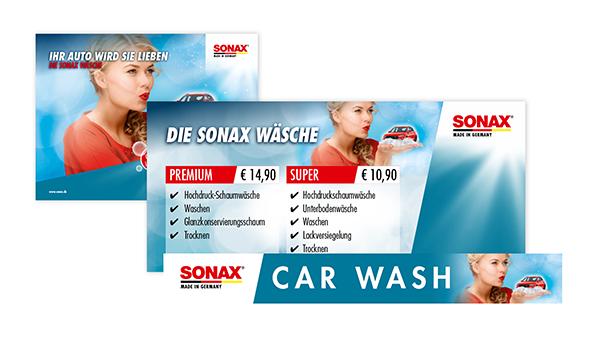 Werbemittel SONAX Wäsche