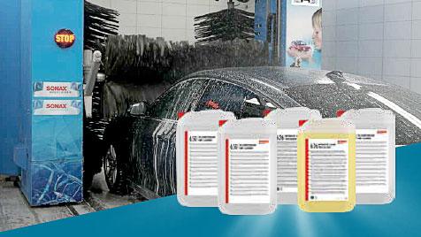 Waschanlage mit Produkten als Featured Image