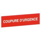 ETIQUETTE COUPURE D'URGENCE photo du produit