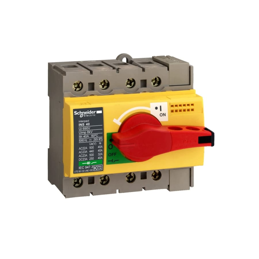 Schneider Electric - 28916 - INS40 3P POIG. ROUGE PLAS