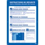affiche consignes de securite photo du produit