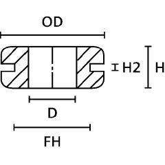 Passe-fil anti-pliure HV1101BK photo du produit