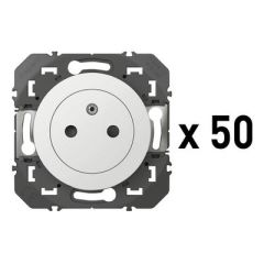 50X PRISES 2P+T SURFACE BLANC photo du produit
