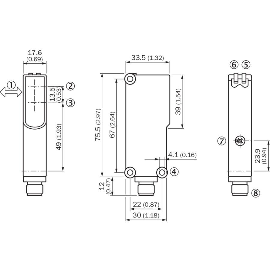 Sick WF80-60B410 6028441 Photoélectrique Fourche Capteur 80mm 000399