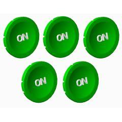 lot de 5 pastille Verte on photo du produit
