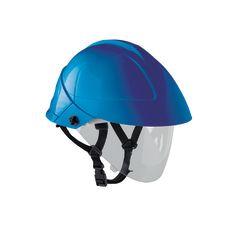 casque bleu avec ecran facial photo du produit