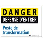 plaque alu poste 200 x 150 mm photo du produit