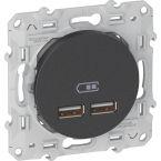 ODACE CHARGEUR USB 2.1 ANTHRA photo du produit