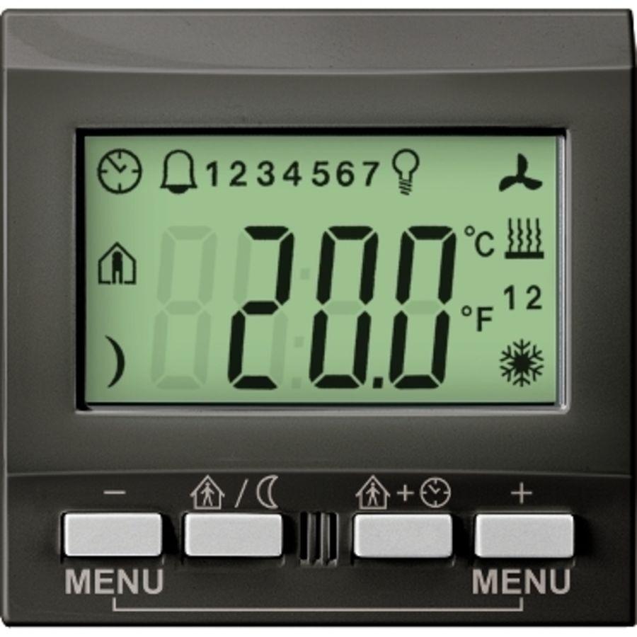 Unica KNX MGU3.534.12 graphite contrôleur de température Schneider